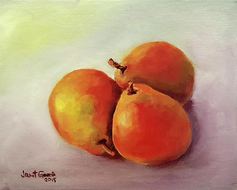 Three Pears by Janet Garcia