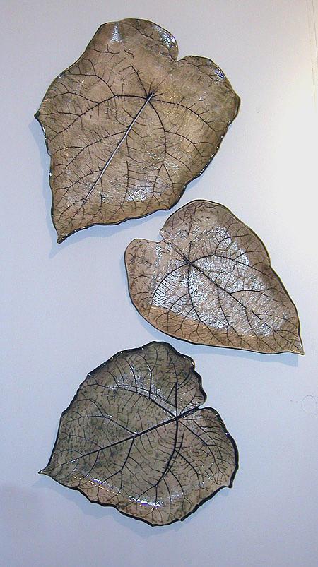 Sculptural Sculpture - Three Piece Leaf Arrangement by Janet Wyndham-Quin