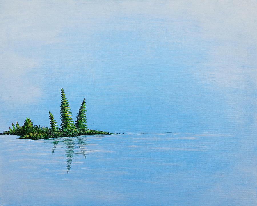 Paintings Painting - Three Pine Island by Blake Wesley