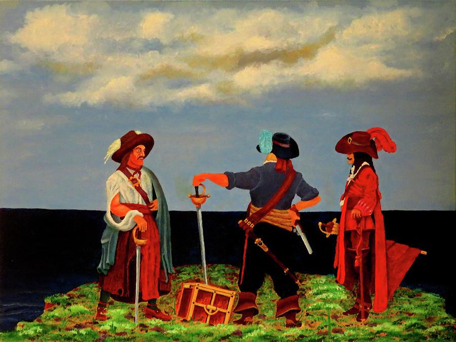 Pirates Painting - Three Pirates by Robert Marquiss