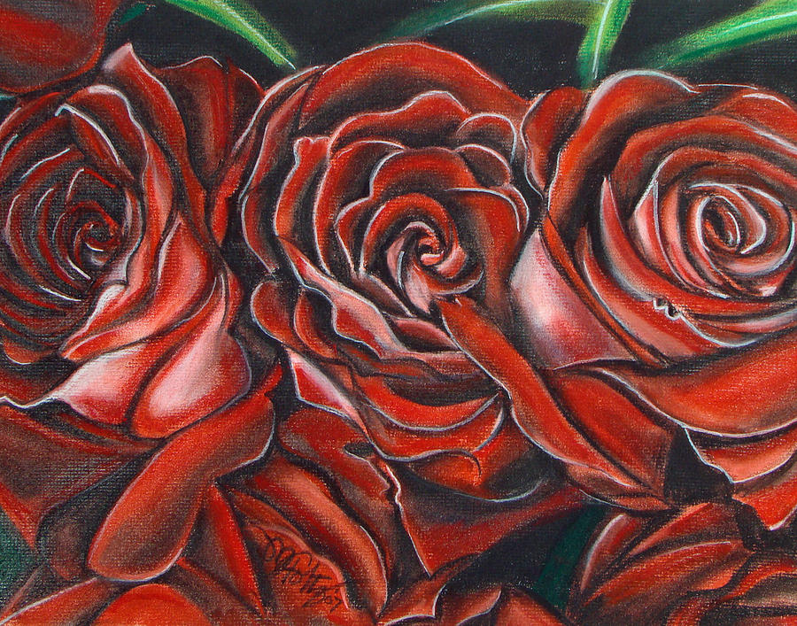 Three Rose by Michael Foltz
