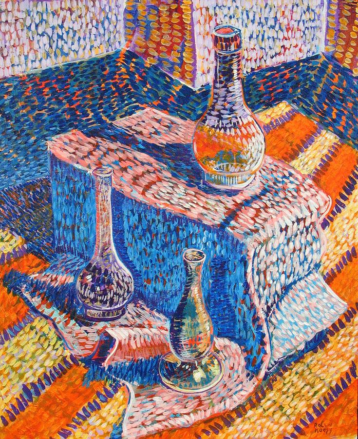 Still Life Painting - Three Simple Vases by Rollin Kocsis