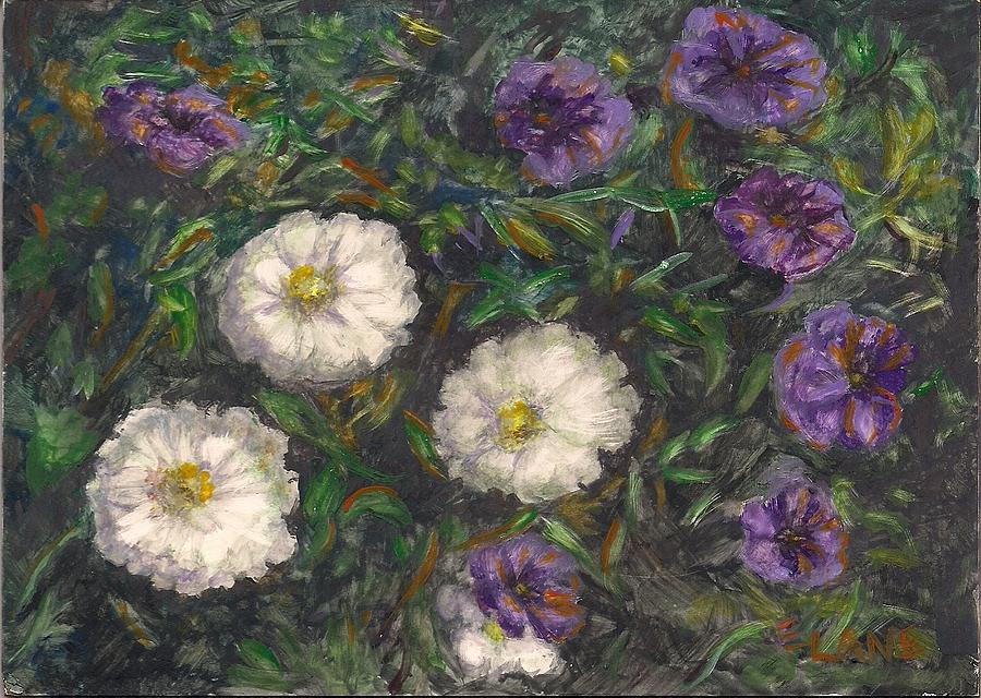 White Flowers Painting - Three Sisters by Elizabeth Lane