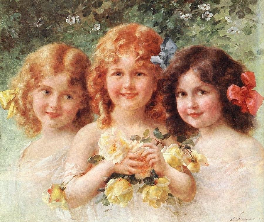 Emile Vernon Digital Art - Three Sisters by Emile Vernon