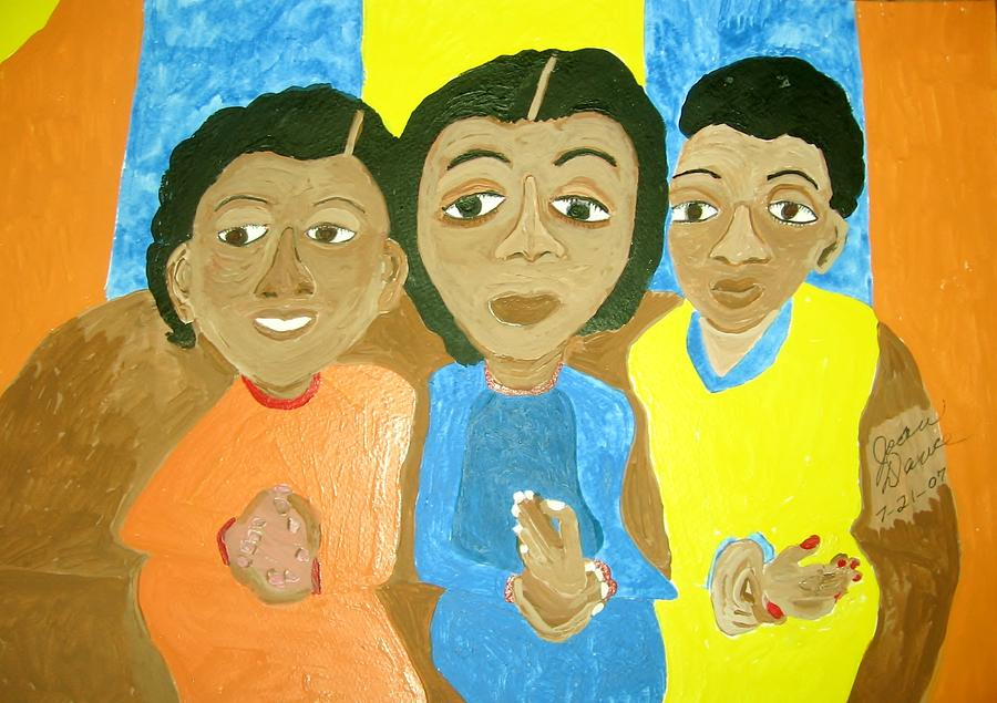 Three Sisters Painting - Three Sisters by Joan Dance