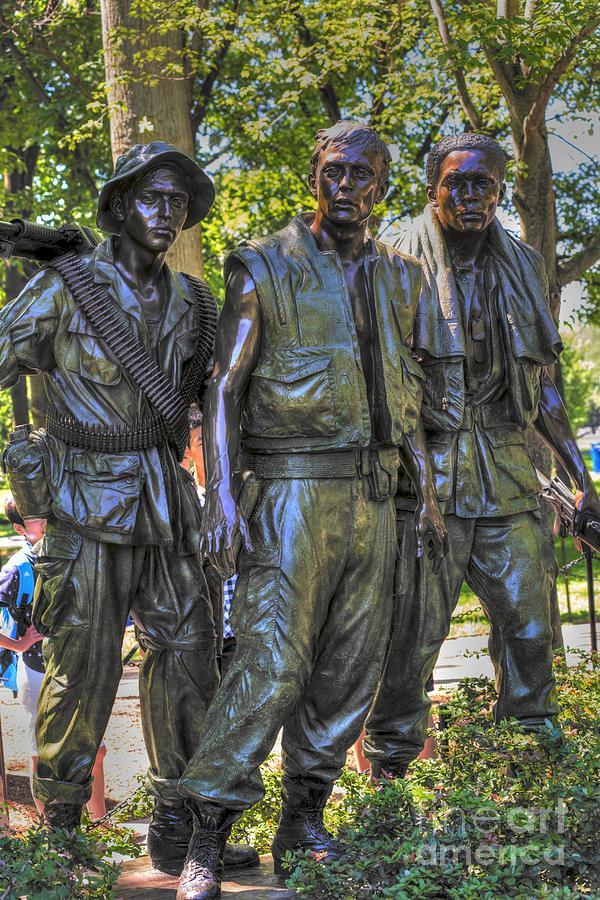 Viet Nam Photograph - Three Soldiers by David Bearden