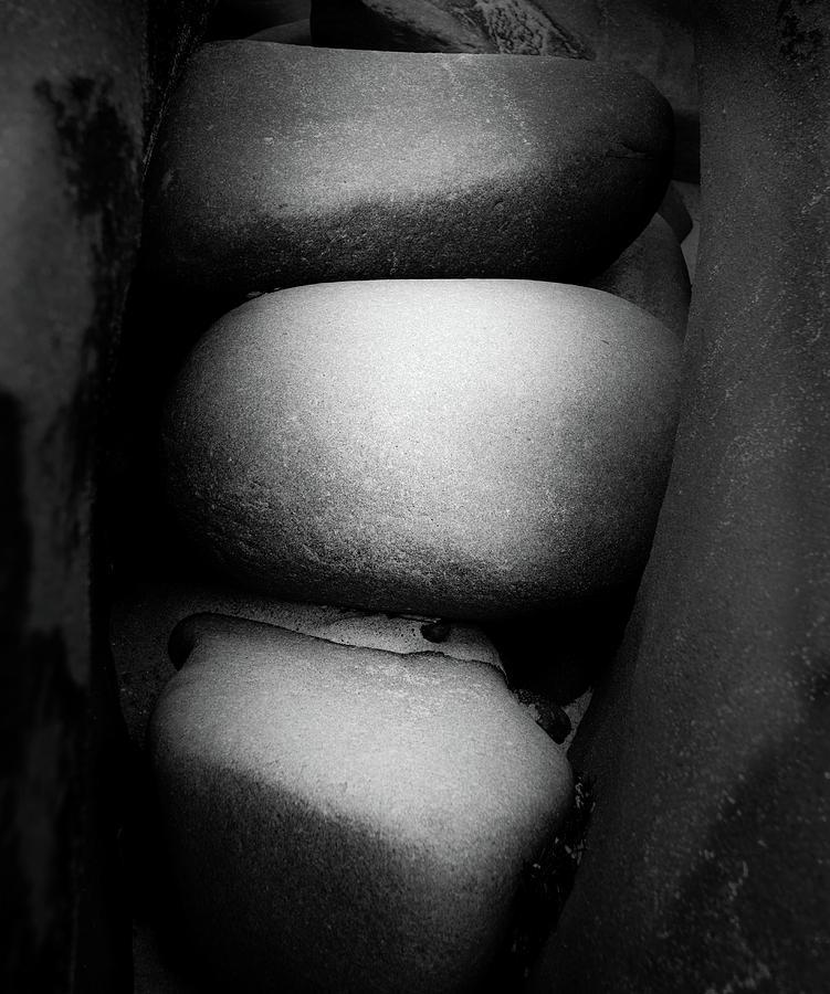 La Jolla Photograph - Three Stones by Joseph Smith