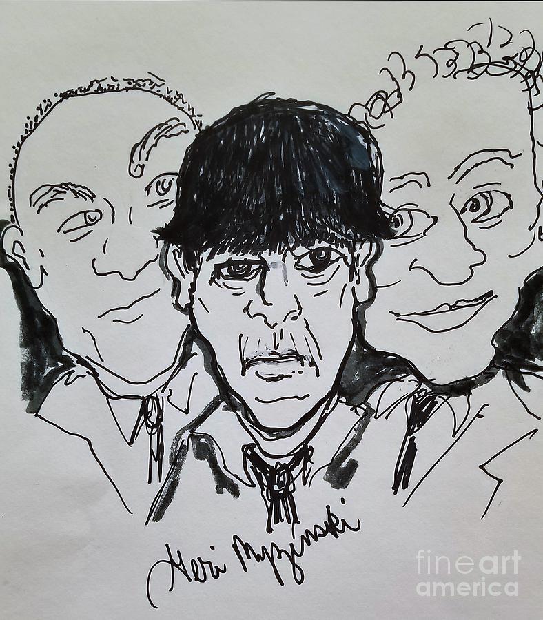 Three Stooges Mixed Media