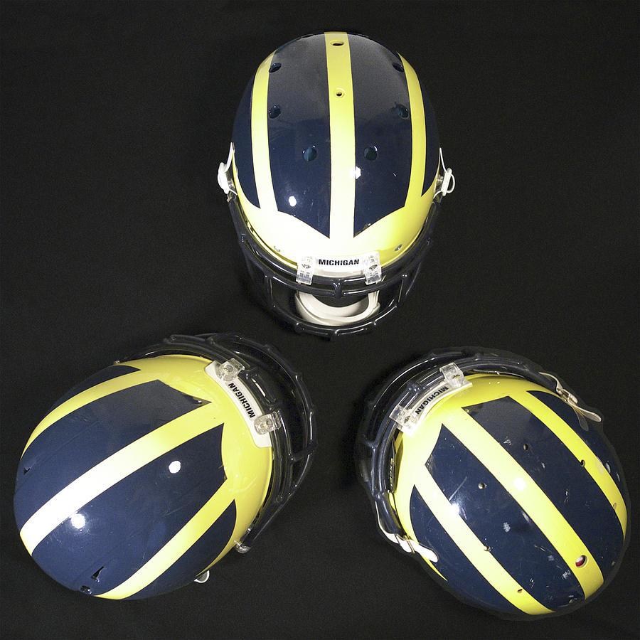 Three Striped Wolverine Helmets by Michigan Helmet