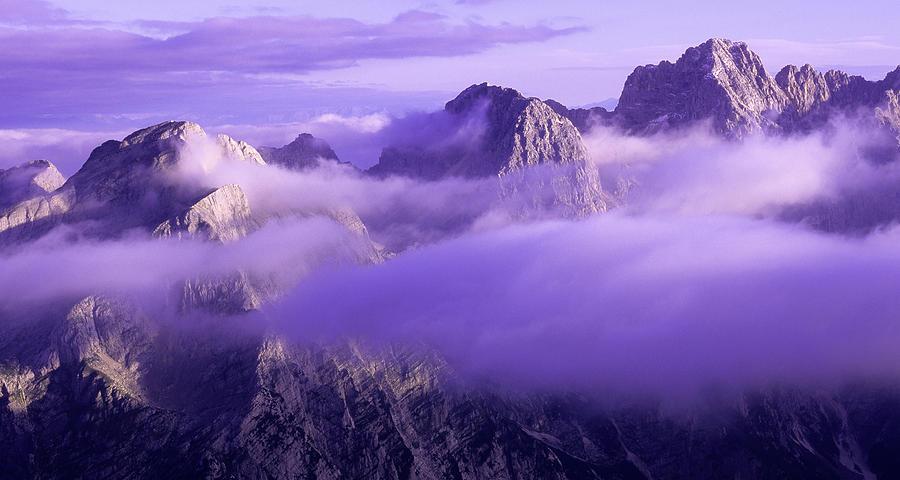 Beautiful Photograph - Three Summits. Julian Alps by Konstantin Dikovsky