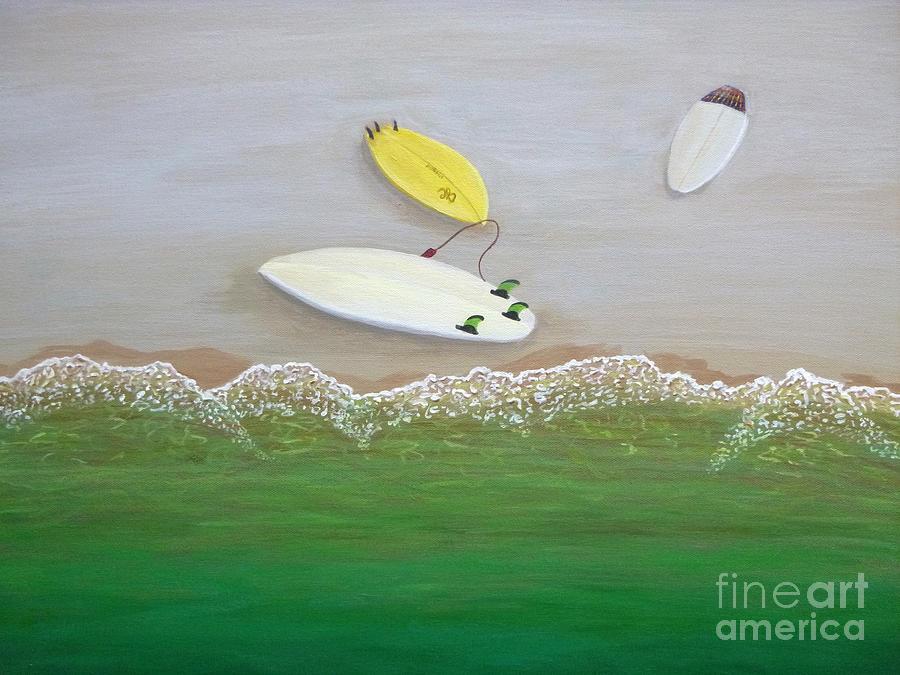 Three Surfboards by Jenn C Lindquist