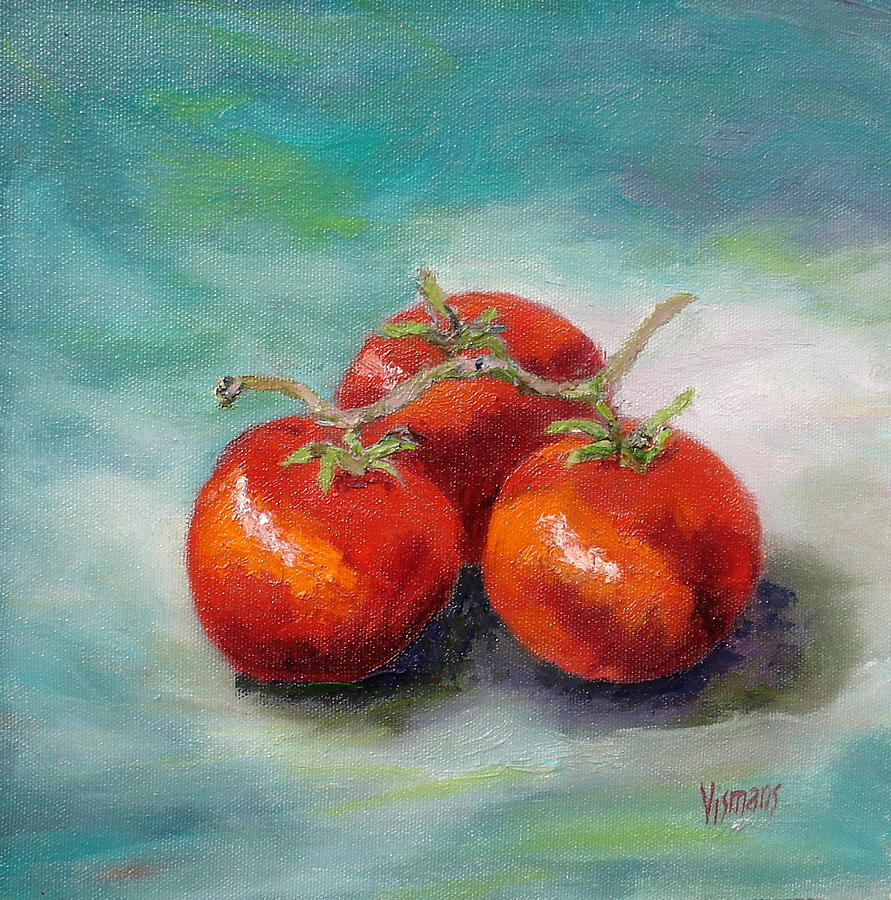 Still Life Painting - Three Tomatoes by Elisabeth Vismans