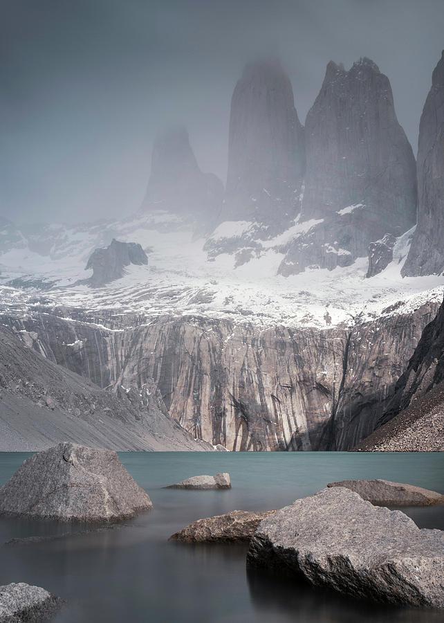 Towers Photograph - Three Towers, Chile by Dalibor Hanzal