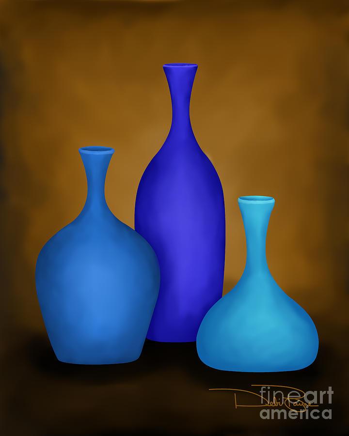 Three Vases Digital Art By Debi Payne