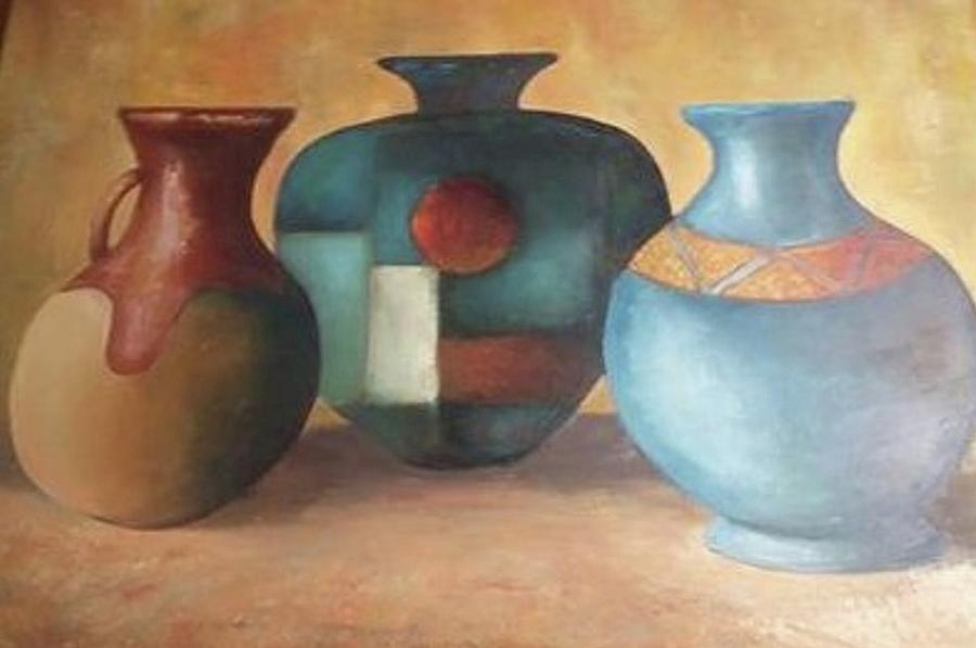 Three Vases Painting By Thomas Walters