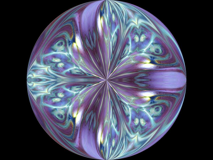Kaleidoscope Photograph - Three Violet Petals by Yvette Pichette