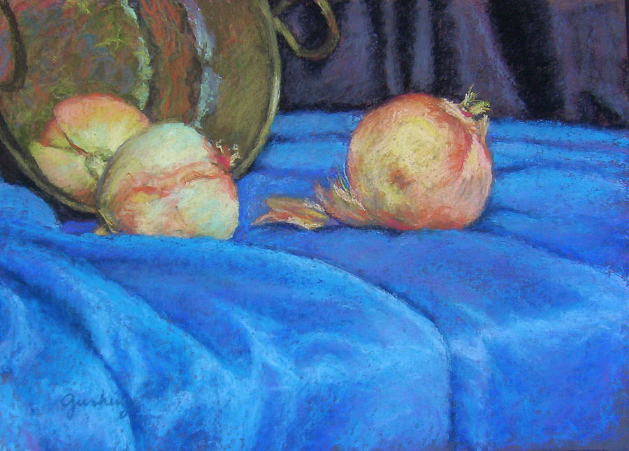Still Life Painting - Three White Onions by Cindy Sugg