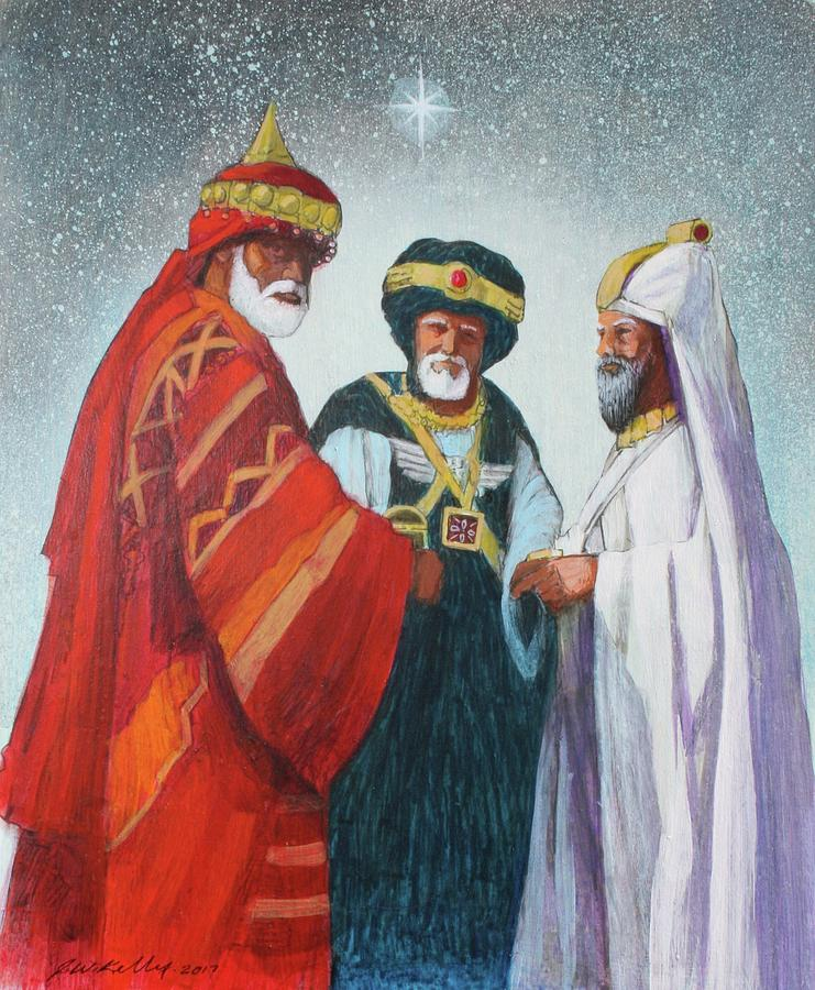 Three Wise Men Painting by J W Kelly