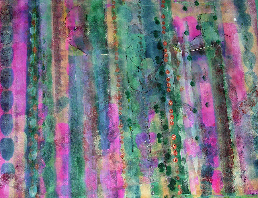 Abstract Painting - Three Wise Men by Russell Simmons