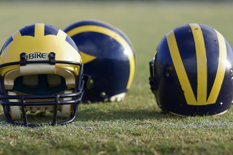 Three Wolverine Helmets by Michigan Helmet