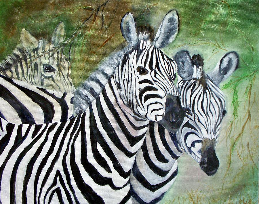 Three Z Puzzle Painting by Lynda McDonald