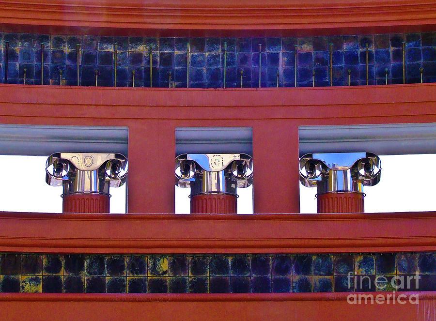 Architecture Photograph - Threereflective Columns by Frances Hattier