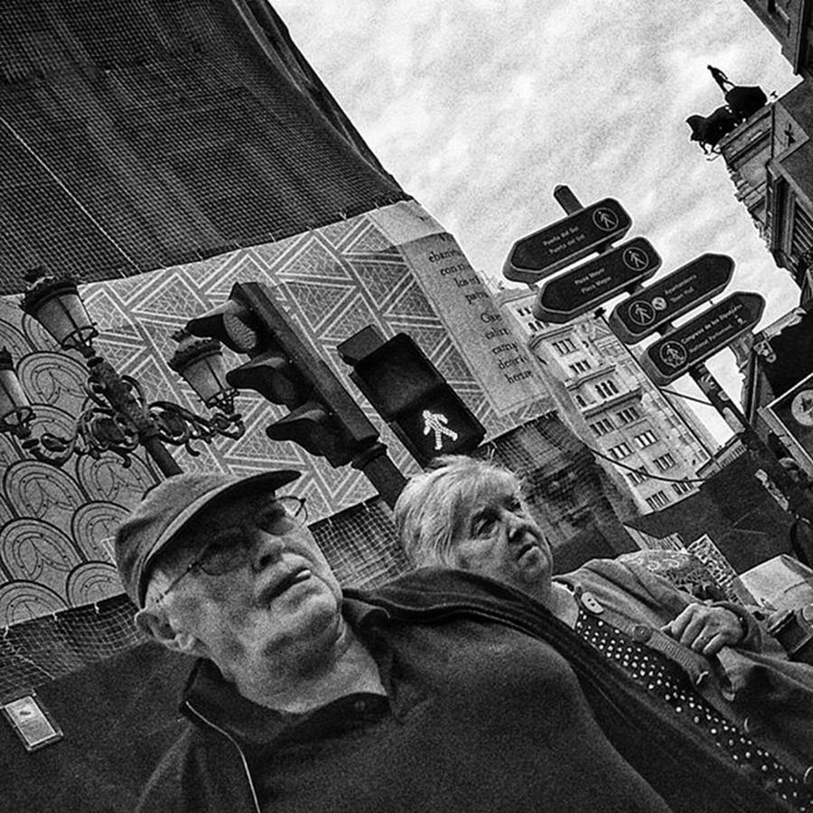 Trafficlight Photograph - Threesome  #couple #trafficlight by Rafa Rivas
