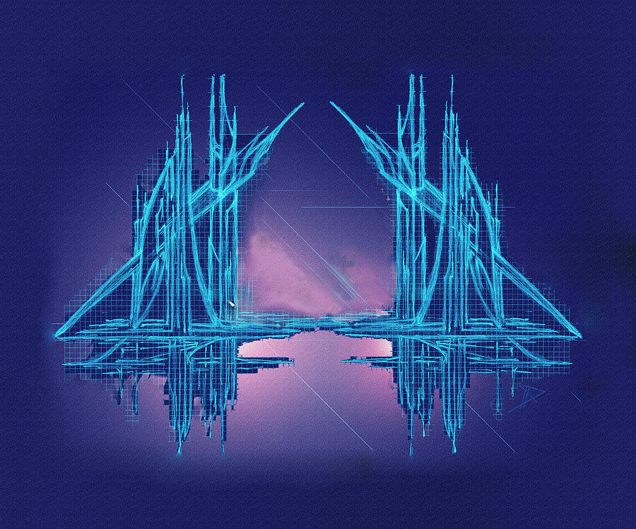 Abstract Digital Art - Threshold by Don Quackenbush