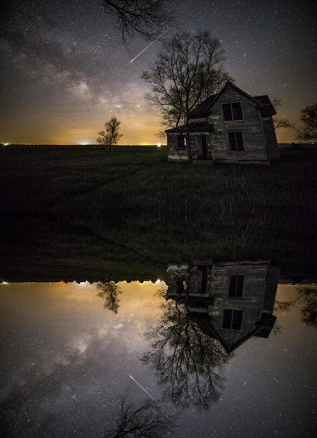 Sky Photograph - Through A Mirror Darkly  by Aaron J Groen