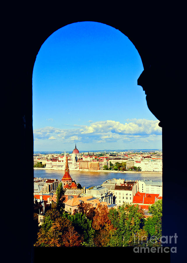 Budapest Photograph - Through An Arch In Budapest by Madeline Ellis
