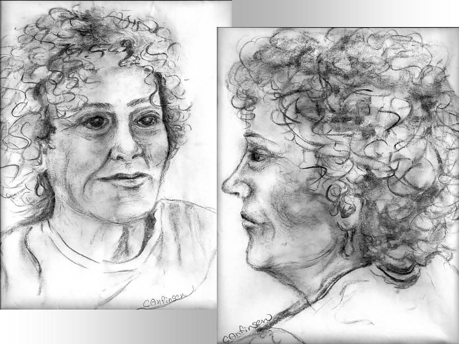 Sketch Drawing - Through Her Eyes by Carol Allen Anfinsen