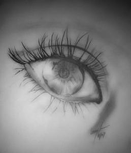 Eye Drawing - Through My Eyes by Lacey Inman
