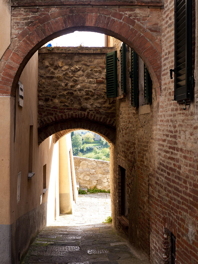 Montepulciano Photograph - Through The Alleys by Rae Tucker