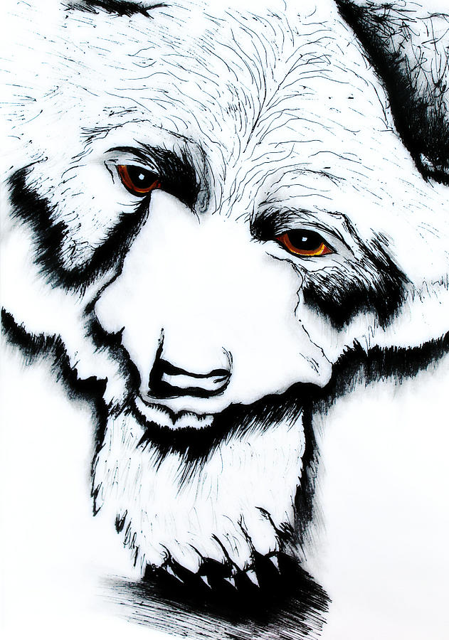 Through The Bears Eyes Painting