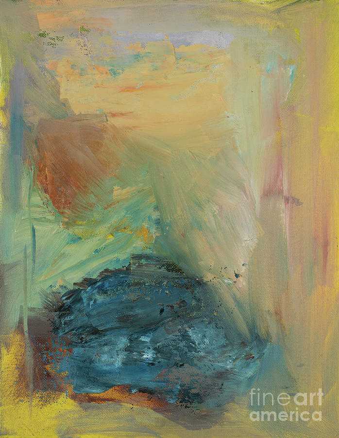 Abstract Painting - Through The Blue by Jodi Monahan