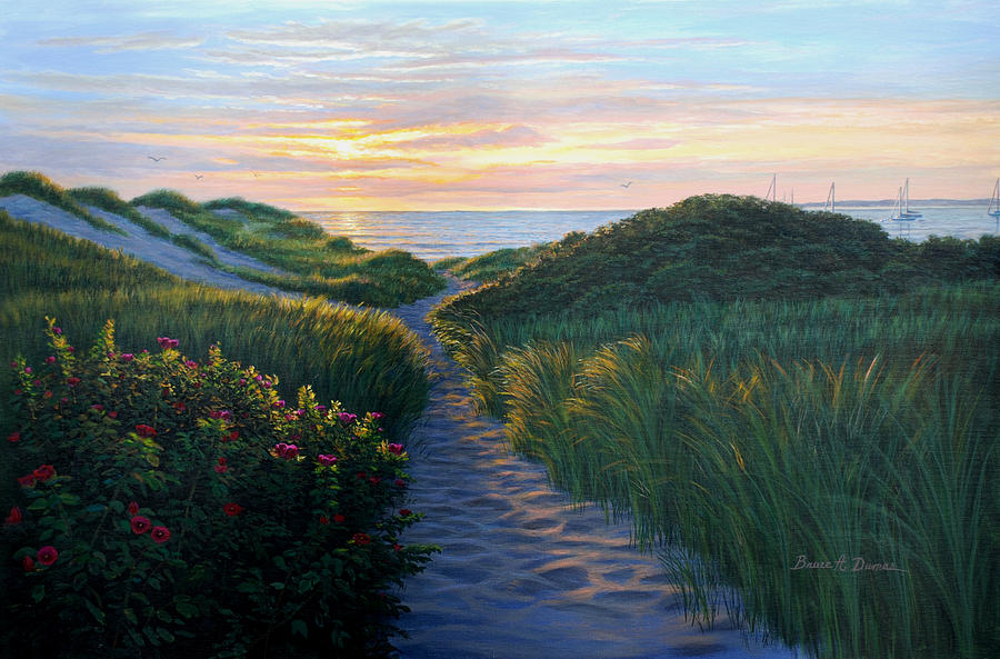 Seascape Painting - Through The Dunes by Bruce Dumas