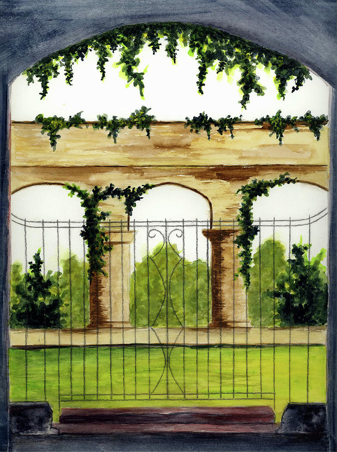 Gates Painting - Through The Gates by Michael Vigliotti