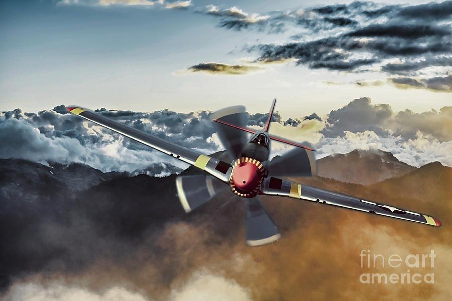 Mustang Photograph - Through the haze by Sebastien Coell