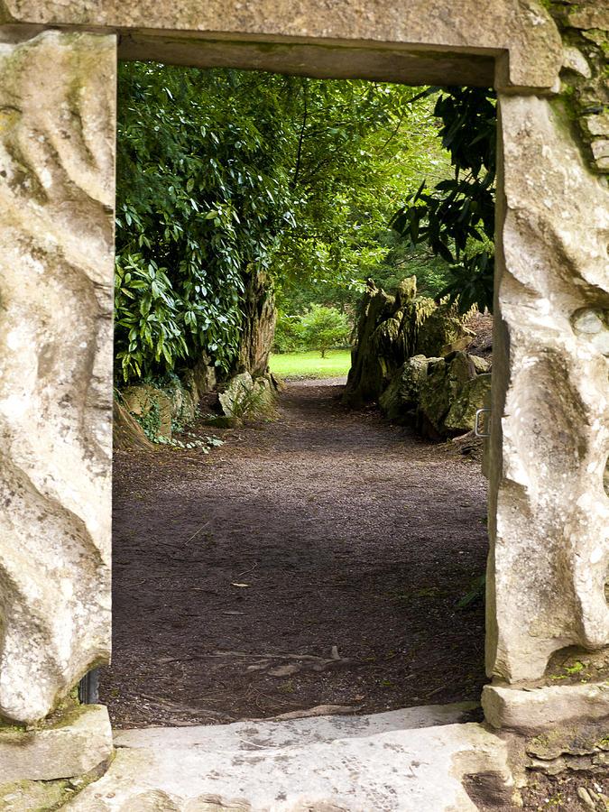 Blarney Photograph - Through The Stone Wall by Rae Tucker