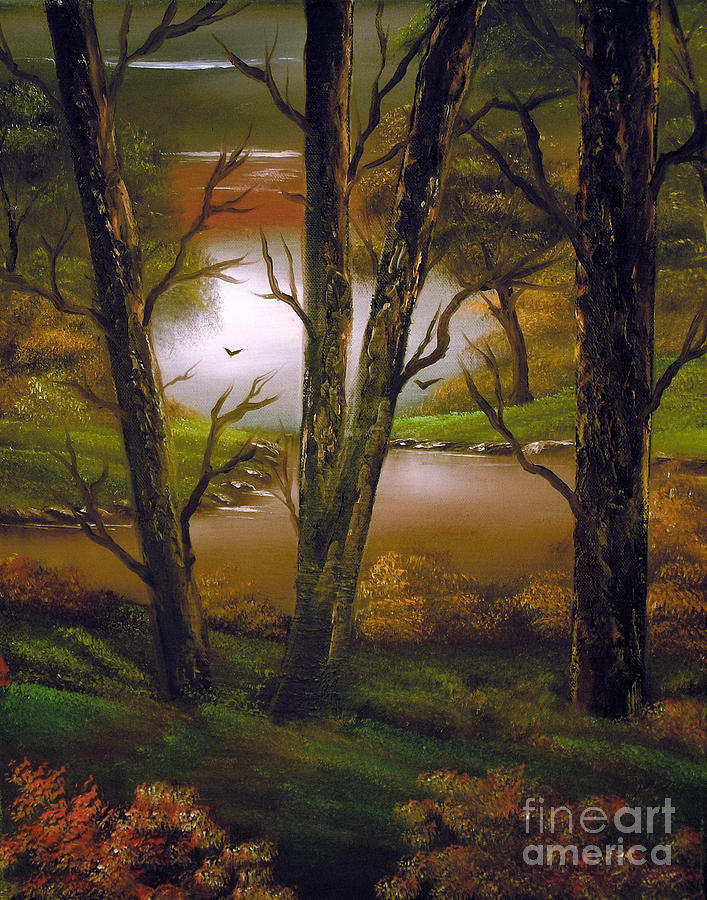 Landscape Painting - Through The Trees. by Cynthia Adams