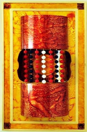Spiritual Painting - Through The Tunel by Mounir Lakkis