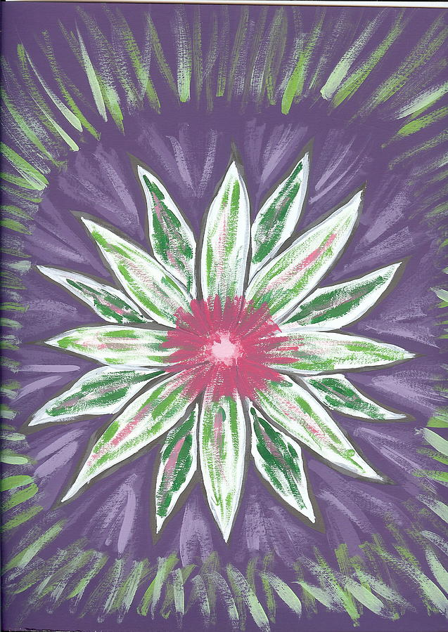 Flower Painting - Through The Twilight by Laura Lillo