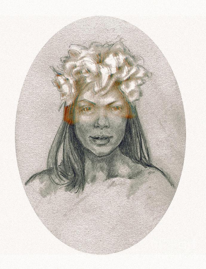 Drawing Drawing - Through The Veil by Lora Serra