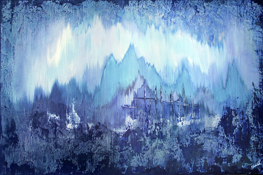 Through To Stillness Painting by Shadia Derbyshire