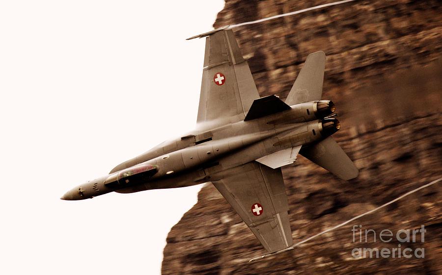 Airshow Photograph - Thrust by Angel  Tarantella