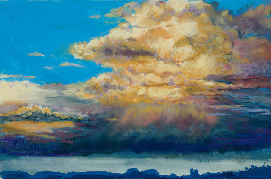 Storm Clouds Painting - Thundeclouds by Billie Colson
