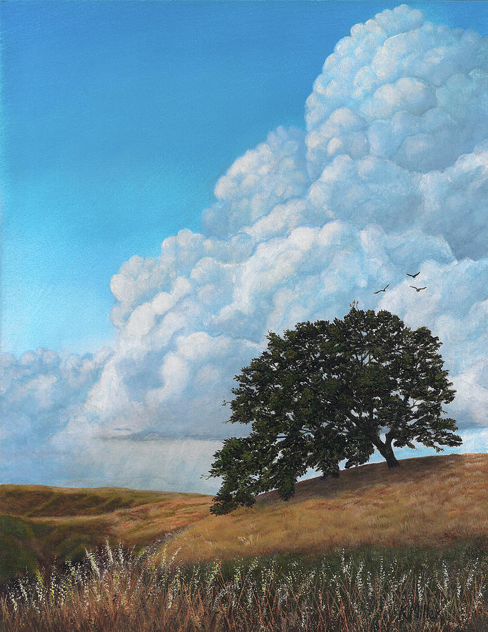 Clouds Painting - Thunder Clouds Mt. Diablo by Kathie Miller