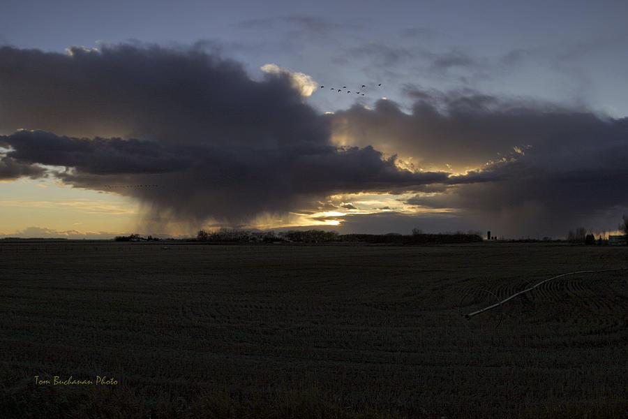 Thunder Photograph - Thunder On The Prairie by Tom Buchanan