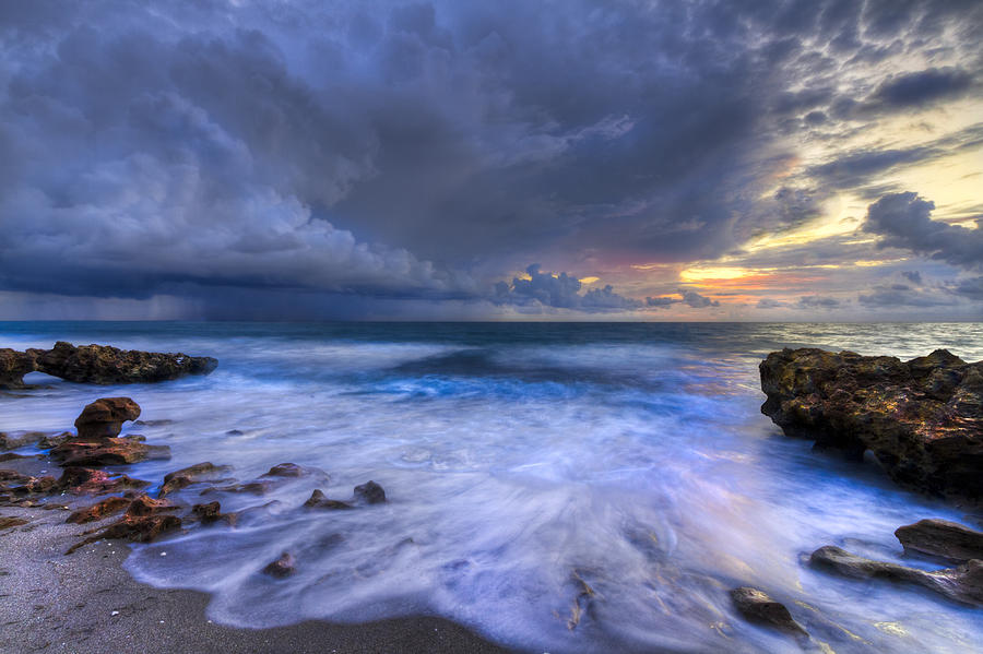 Blowing Photograph - Thunder Tides by Debra and Dave Vanderlaan
