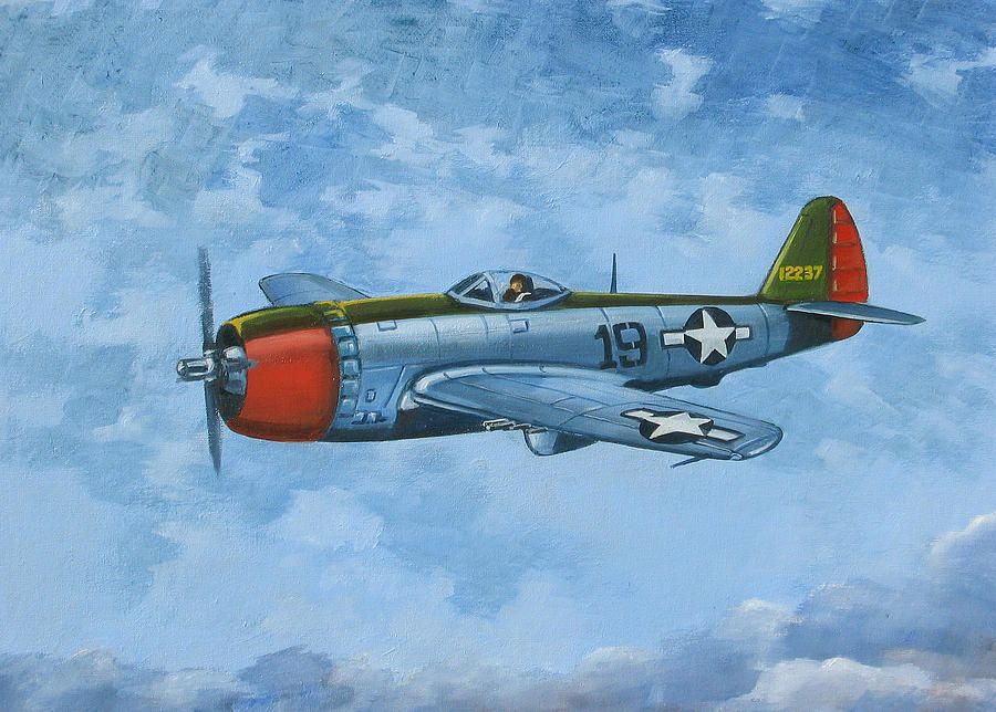 Airplanes Painting - Thunderbolt by Murray McLeod